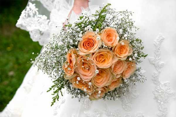 Buquê de Noiva, Rosas Claras.